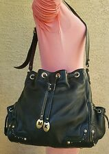 MICHAEL KORS Drawstring Grommet studded Leather bucket purse shoulder bag $368