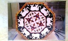 SIZE 2'X2' MARBLE OCTAGON DINING COFFEE  CORNER CENTRE TABLE TOP MOSAIC WORK
