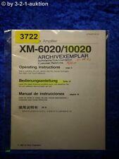 Sony Bedienungsanleitung XM 6020 /10020 Amplifier (#3722)