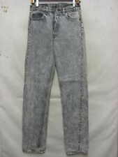 D7185 Levi's 501 USA Made Acid Washed Gray w/Paint Jeans Men's 29x35