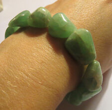 GORGEOUS VERY RARE NATURAL GREEN MOONSTONE CRYSTAL BRACELET INDIA