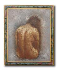 Altes Gemälde Öl auf Leinwand Original Ölgemälde von BARTON Rückenakt Aktgemälde
