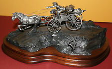 "1985 Org. Michael Boyett pewter sculpture western/horse/buggy ""THE DOCTOR"" art"