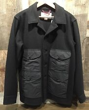 FILSON Seattle Cruiser Black Wool Winter Jacket Coat Medium NWT $395