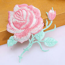 Rose Flower Embroidery Iron On Applique Patch