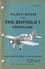 PILOT'S NOTES: BREWSTER F-2A BUFFALO (26 pps) + FREE 2 - 10 PAGE INFO PACK