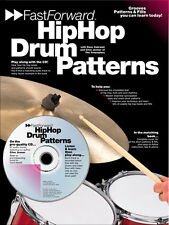 LEARN HIP HOP Drum Patterns FILLS Fast Forward Music Book & CD LESSON FUNK BEATS
