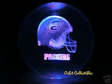 80mm Laser Crystal BALL Football NFL Green Bay Packers