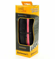 Continental Ultra Sport 2 Road Bike Tire, Pink/Black, 700x25, Folding