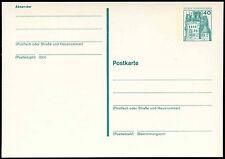 Berlin 1977, 40pf Castle Stationery Card Unused #C20877