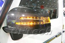 Mercedes W463 G-Class 12~ON 3K CARBON FIBER Arrow Type LED Side Mirror Cover AMG