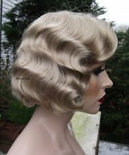 Fingerwave Wig ..  Rose.  QUALITY Great for THEATRE! #24 Blonde  .. Finger wave