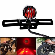 Grill Bullet Motorcycle Rear Tail Brake Light License Plate Mount Chopper Bobber