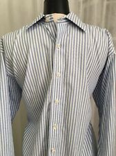 Michael Kors Luxurious Blue & White Striped Men's Dress Shirt Size Large (16.5)