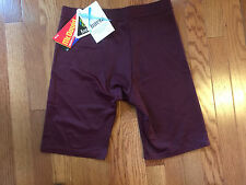 NWT VINTAGE MCDAVID #810 DELUXE COMPRESSION SHORTS BURGUNDY SIZE X-LARGE