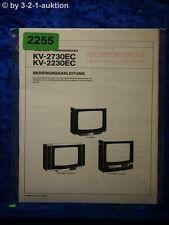 Sony Bedienungsanleitung KV 2730EC / 2230EC Color TV (#2255)