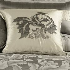 Vera Wang Bouquet Queen Ribbed Coverlet Silver MSRP $300