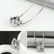 Lady Cubic Zirconia Pendant Silver Plated Drop for Necklace Chain Jewelry Latest