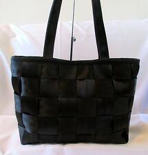 HARVEY'S ORIGINAL SEATBELT BAG BLACK NYLON TOTE STYLE SHOULDER BAG HANDBAG PURSE