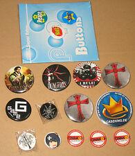 Gamescom  Pin / Anstecker / Button : Patrician IV / Dungeons / CaseKing + mehr