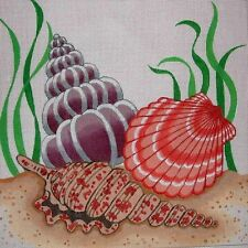 EP 546 Hand Painted HP Zweigart Mono Needlepoint Canvas ~ Sea Shells