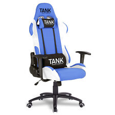 TANK LUXURY SPORTS OFFICE RACING GAMING CHAIR SWIVEL COMPUTER DESK EXECUTIVE BTM