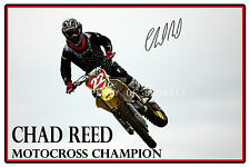 * CHAD REED * AUTOGRAPHED PHOTO OF THE WORLD SUPERCROSS CHAMPION *