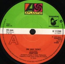 "ERUPTION one way ticket  let me in the rain 7"" WS EX/ uk K11266 solid centre"
