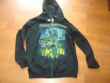 IRON MAIDEN SOMEWHERE BACK IN TIME EDDIE RARE ZIPPER HOODIE SWEAT BAND SZ M