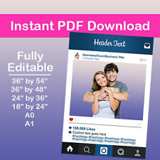Marco Digital Pdf descarga en Instagram Photobooth Props, XBodas Prop