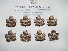 8 Pcs Vintage Gold Metal Leaf Jewelry Stamping Findings