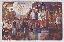 AK Österreich, Kaiser Franz Joseph I vor einer Versammlung 1916