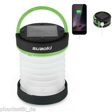 Collapsible Led Lantern Light USB/Solar Rechargeable Emergency Charging Green