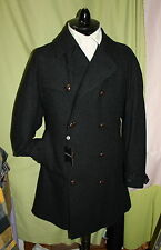 NWT POLO RL mens double breast charcoal plaid virgin wool trench coat 40R ITALY