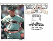 "Sparky Anderson- Manager Detroit Tigers - Hall of Fame Supercard 8"" x 10"""