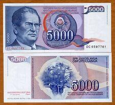 Yugoslavia, 5000 Dinara, 1985, P-93, UNC   Josip Broz Tito