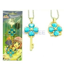 Shugo Chara Lock and key Modelling Lovers Pendant Necklace blue Accessories