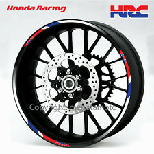 Honda HRC motorcycle wheel decals rim stickers stripes cbr1000rr CBR 600 cb 1000