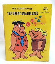 "Hanna-Barbera 1977 Book 4.75"" Flintstones Great Balloon Race Fred Barney Wilma"