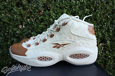 REEBOK QUESTION MID SZ 7.5 SNS SNEAKERSNSTUFF LUX IVERSON OSTRICH BROWN BD2