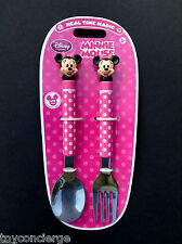 DISNEY Store MEAL TIME MAGIC Collection MINNIE Mouse FLATWARE Set Fork Spoon NEW