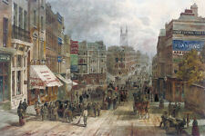 Snow Hill Holborn London William Henry Prior Repro 19thc Art Print 7x5 inches