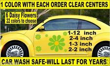 "LARGER DAISY FLOWERS DECAL  STICKER CAR VW BEETLE 1-12"" +  5 SMALLER PATTERNSRUS"
