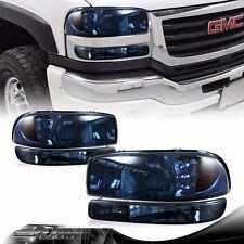 4PCS Smoke Lens LED Headlights + Bumper Signal Lights For 00-06 GMC Yukon/Sierra