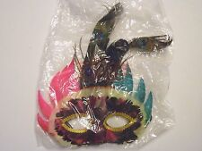 Pick Green Black Peacock Feather Eye Mask Mascarade Party Mardi Gras Halloween
