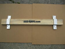 "See-safe Security Door 2x4 Board Complete Set Closed Bar 2"" Wide 1 Pair"