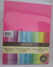 "Recollections Cardstock Paper 8 1/2"" X 11"" 200 Sheet Bright Essentials Pink Blue"