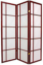 Brand New 3-panel multifunction  PAPER SHOJI Screen room divider- cherry- ASDI