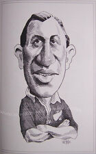 "JIM PARKER NEW ZEALAND ALL BLACK CARICATURE PRINT 16x12"" (41x30cm) UNFRAMED"