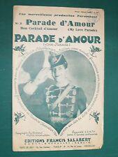 """Partition  Chant """"Parade d'amour"""" SCHERTZINGER BATAILLE-HENRI Maurice CHEVALIER"""